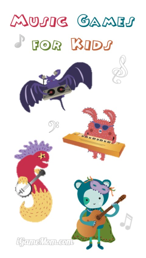 Interactive music games for kids with well designed music curriculum for preschool or kindergarten and up. A wonderful music app to supplement any music curriculum.
