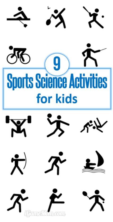 Sports science activities and experiments for kids, from preschool, kindergarten to school age. Kids learn sports winning strategy, science, and being active. Fun STEM ideas for sport or Olympic themed parties.