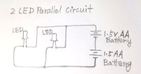 LED circuit chart