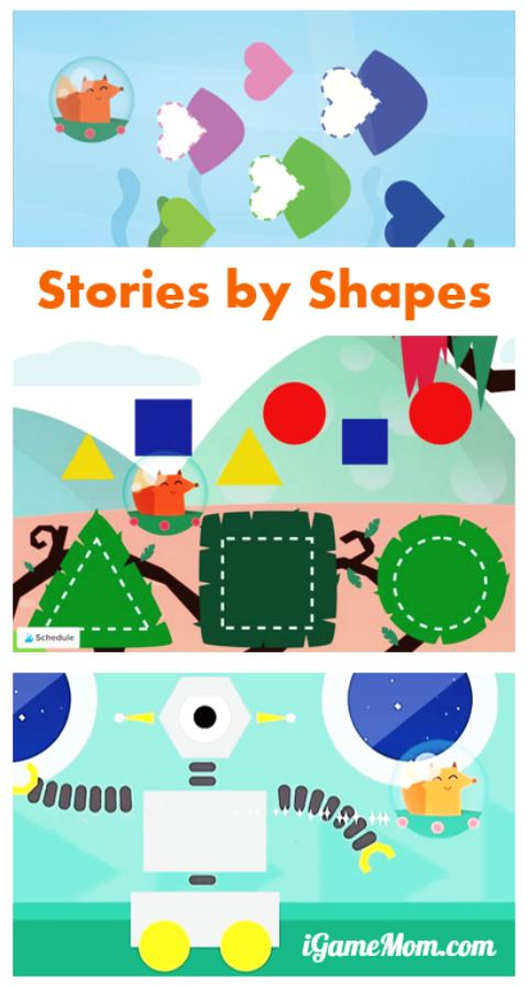 This is a fun way for kids to learn shapes -- interactive stories told by shapes and kids are the ones provide inputs to continue the story. Great learning app for toddler and preschool kids combining art, math and literacy.