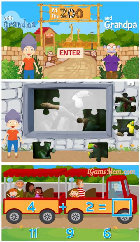 A fun zoo learning activity app for preschool to school age kids, kids learn animal fun facts, math, spelling, problem solving, … and more. Entertaining and educational!