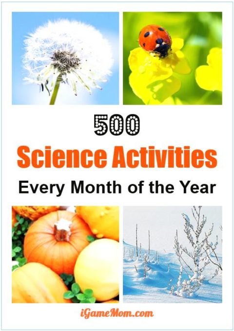 kids science activities for each month of the year