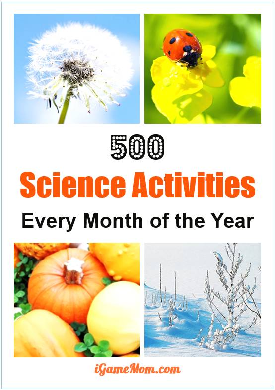kids science activity ideas for every month of the year