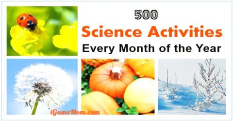 monthly science activity ideas for kids