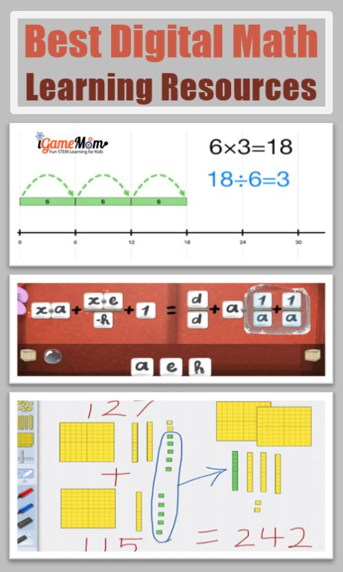 Best Math Learning Resources for kids from preschool kindergarten to middle and high school, including math games for number senses, concept explanations and lessons with drills and practic, targeted math learning activities. Most are free. Great for classroom math centers, homeschool, or after school at home.