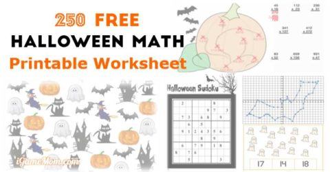 Free Halloween Math Printable Worksheets