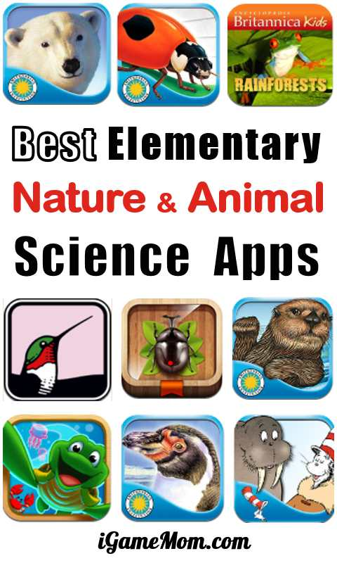 Best nature animal science app for elementary school age kids, students in grade 1 to 6. Fun STEM resource for science learning
