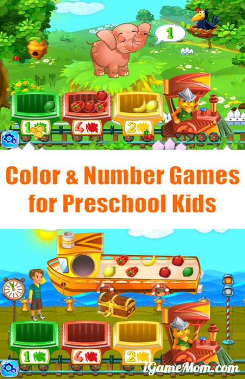 Color and Number Games for Preschool Kids