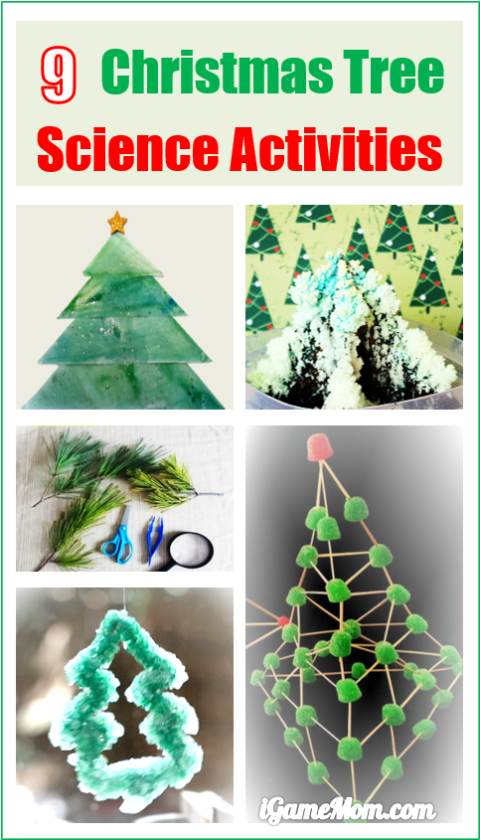 Christmas Tree Science Experiment Activities for Kids and Family, great STEM project ideas for the holiday season, that kids of all ages will love.