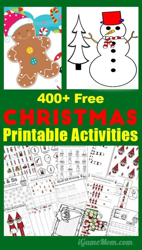 400 Free Christmas Learning Printable