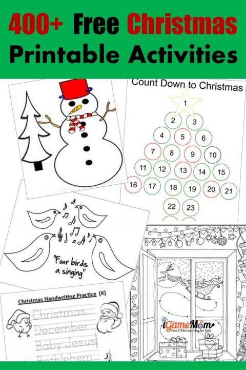 400+ Free Christmas Learning Printable Activities for Kids