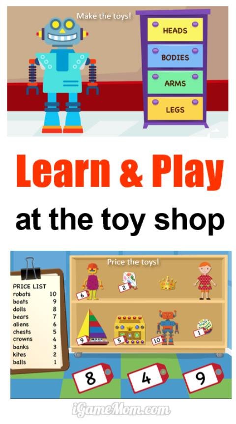 Learn addition, spelling, sight words while helping making toys and run toy stores with grandpa, what a fun educational app! Kids not only learn English and math, but also problem solving and running a business.