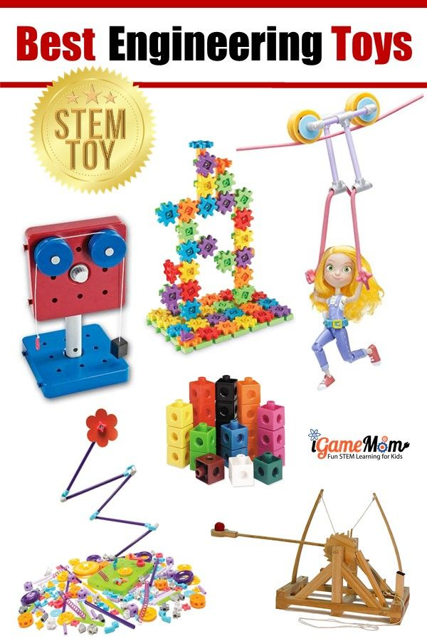 Best Engineering Toys for Kids preschool to school age. Learn Science Math Tech Engineering while playing. Top STEM gifts kids love.