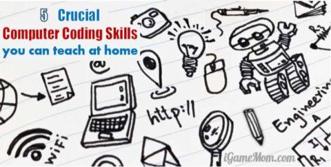 coding skills teach kids at home