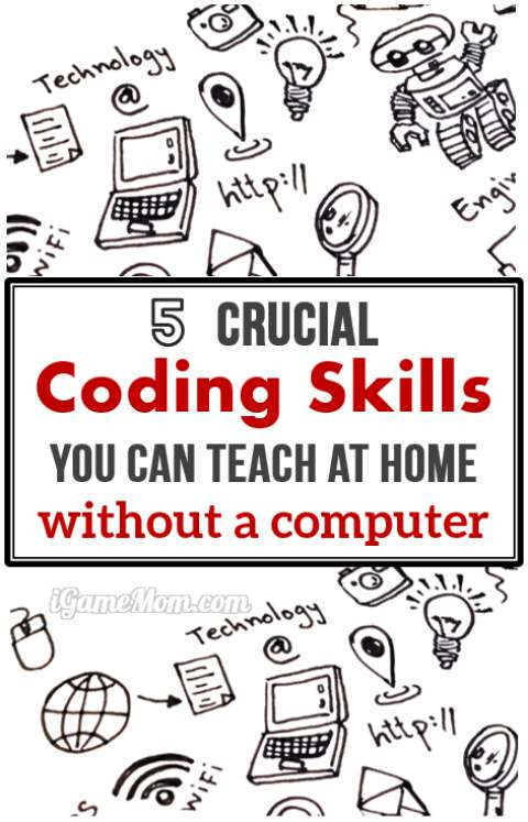 Coding for Kids: essential computer coding skills to teach at home with printable games, without a computer, no code writing involved. | hour of code | CS | ICT | programming