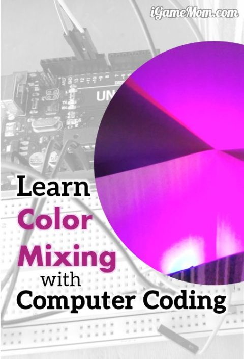 Learn color mixing using computer coding and electronic engineering with kids | STEM | activities | Programming | Arduino | science