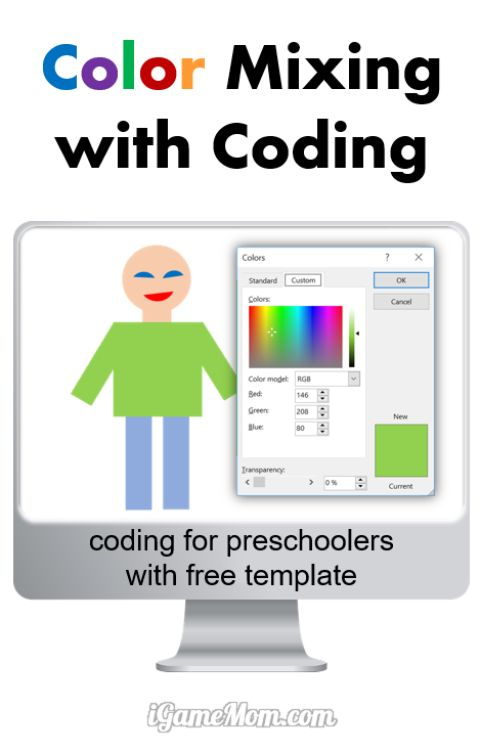 Color Mixing with Coding for Preschool Kids
