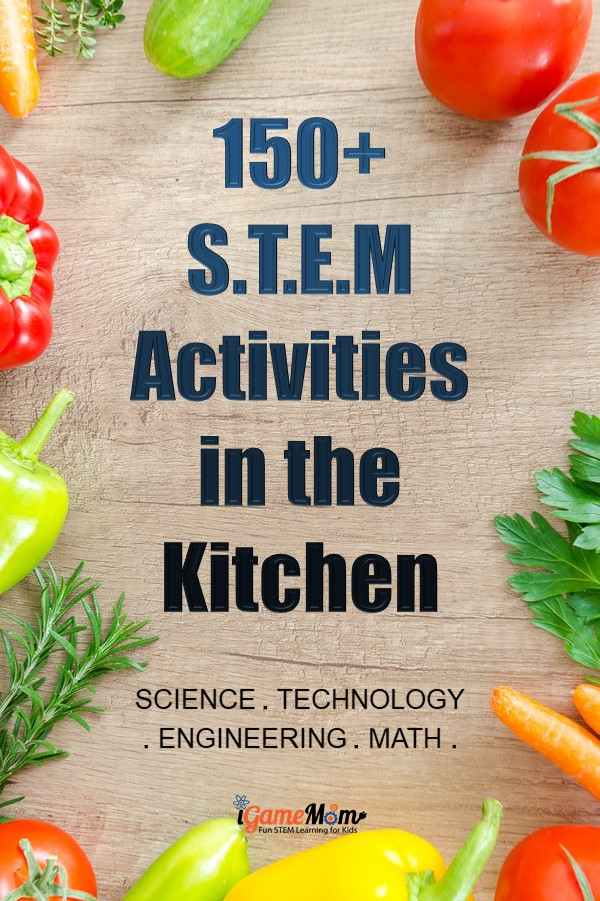 Turn kitchen into STEM laboratory at home! Easy summer and winter STEM (science technology math engineering) activities for kids to learn everything in STEM discipline, with easy to find materials and amazing effects. Great resource for quick science math engineering project ideas either at home or at school, maker space or science fair.