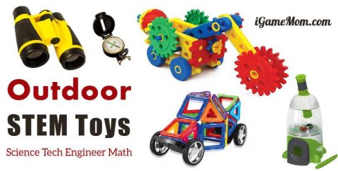 outdoor STEM toys learn science math tech engineer