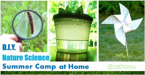 DIY nature scicence summer camp for kids