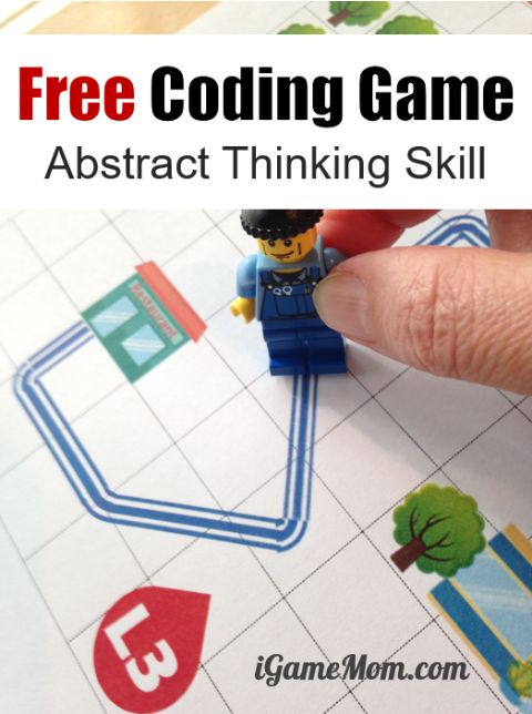 free printable coding game for kids to learn critical thinking skills, think from different perspectives, include all scenario, abstract data. All crucial for computer coding and any STEM subject.