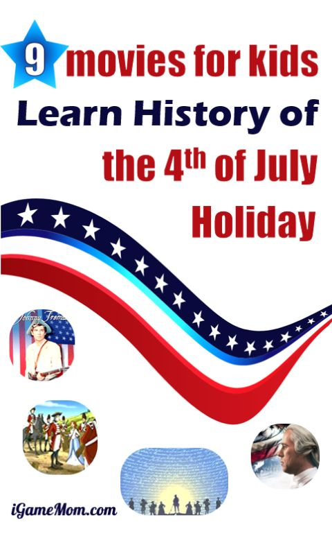 Educational movies for kids to learn American history of July 4th, history of Independence Day. patriotic movies. summer movie