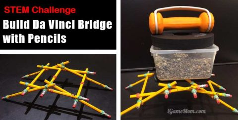 Da Vinci Bridge with Pencil STEM Challenge
