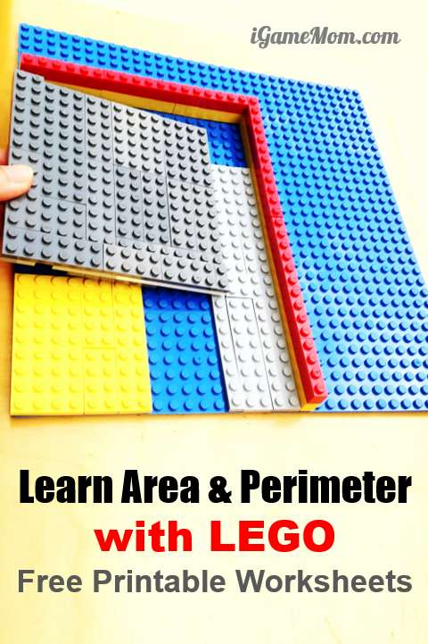 graphic about Area and Perimeter Printable Games identify Cost-free LEGO Video clip Tremendous Hero Math palms upon Functions for