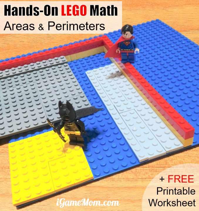 Hands On LEGO Movie Super Hero Geometry Math Area Perimeter