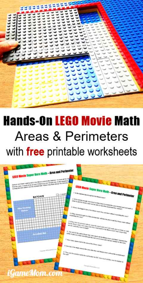 picture about Area and Perimeter Printable Games named Cost-free LEGO Online video Tremendous Hero Math palms upon Pursuits for