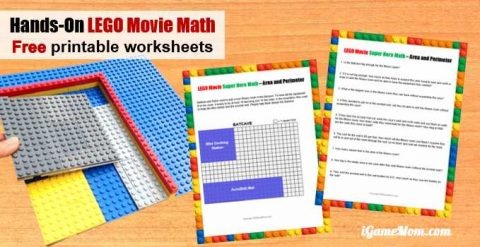 LEGO Movie Super Hero Hands On Geometry Area Perimeter Math