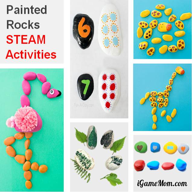 Rock painting science math STEAM activities