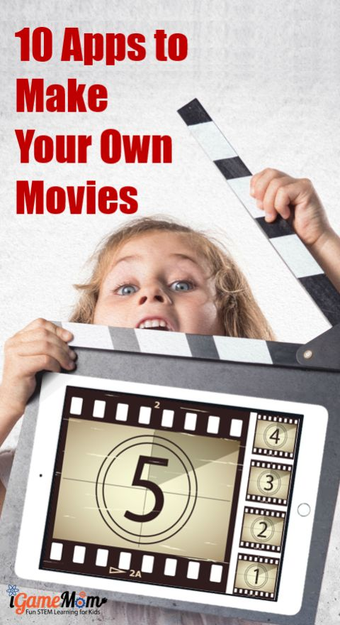 Looking for iMovie equivalent video tools? 10 movie maker apps kids make their own movies, learn stop motion animation, storytelling skills while having fun