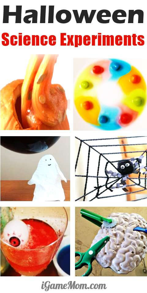 Halloween science experiments activities for kids that fascinate the whole family, Pumpkin, Candy, skeleton, human body, ghost, spider, ... | Fall STEM