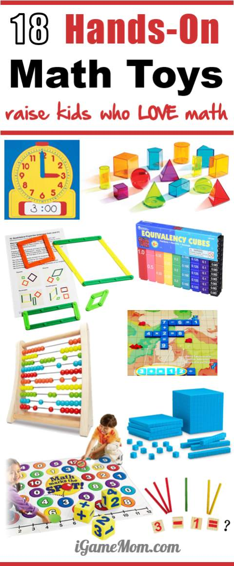 Hands-on math toys to raise kids who love math, preschool, kindergarten, school age