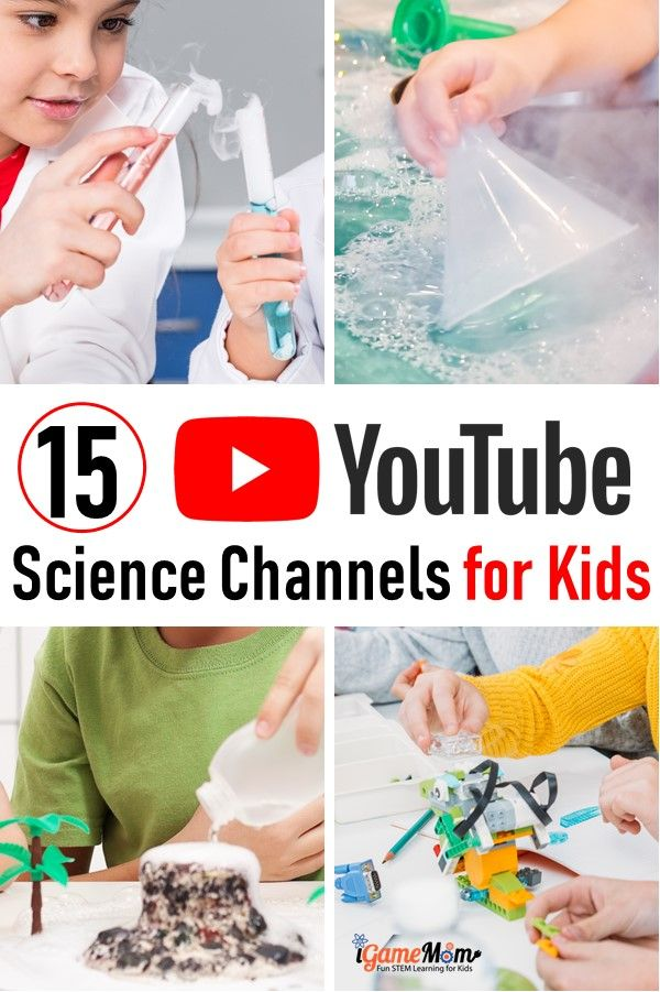 Science videos for kids, 15 clean YouTube science channels safe for kids to watch, and you should not miss. Great science class supplement, free STEM resource