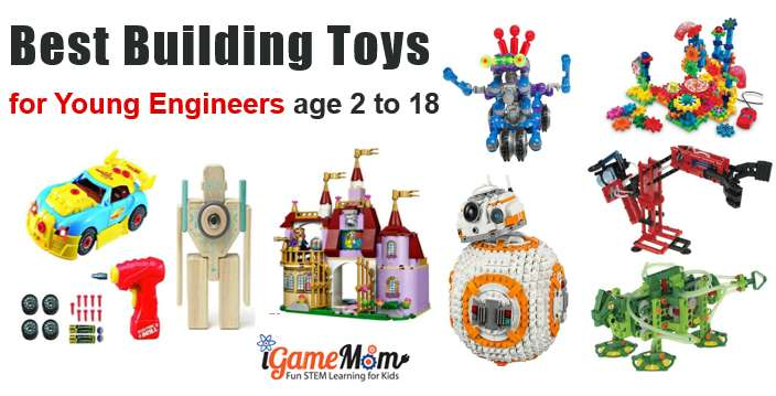 Toys For Engineers : Stem building toys for kids engineers age to