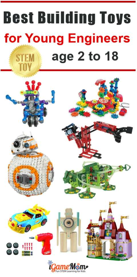 Toys For Boys Age 18 : Stem building toys for kids engineers age to