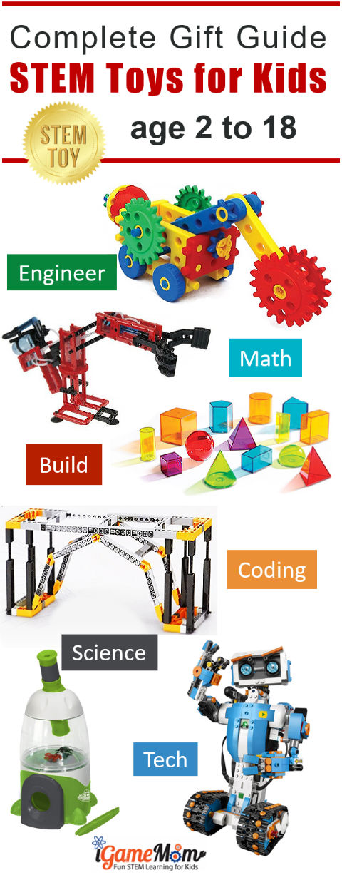 Complete Best STEM Toys Gift Guide for boys and girls from preschool kindergarten to high school