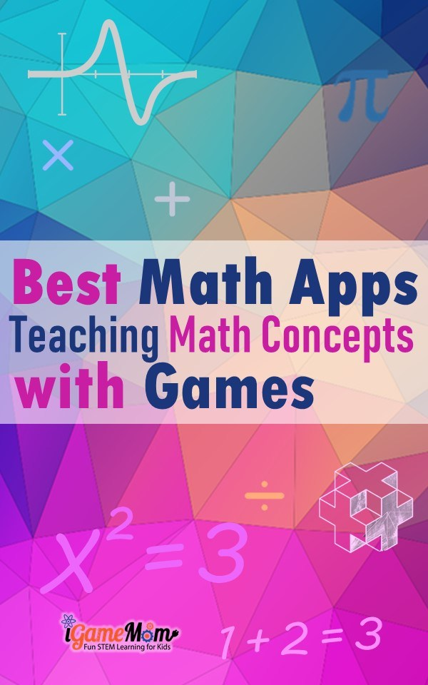 Best math apps games teaching math concepts from preschool kindergarten to middle and high school, math games for number senses, concept explanations and lessons with drills and practic, targeted math learning activities. Most are free. Great for classroom math centers, homeschool, or after school at home.