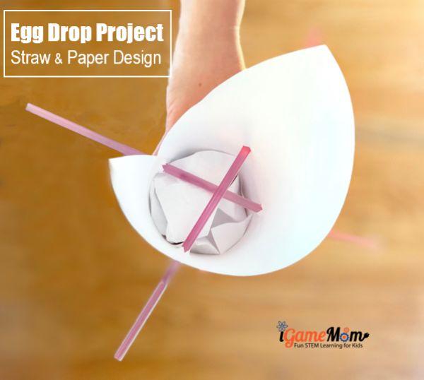 egg drop project design straw paper