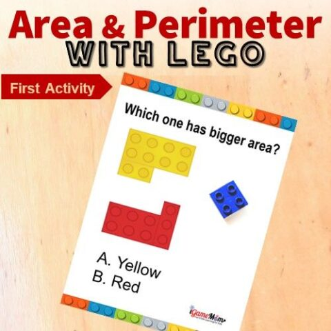 LEGO math challenge area perimeter game 1