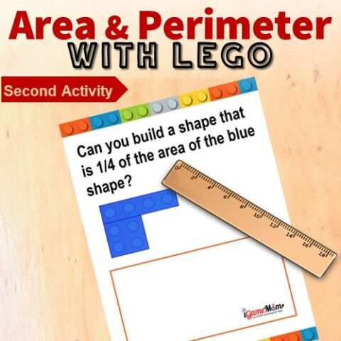 LEGO Math Challenge Area Perimeter Game 2