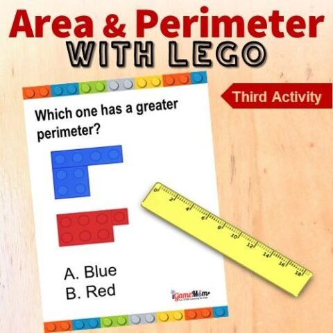 LEGO math challenge area perimeter game 3
