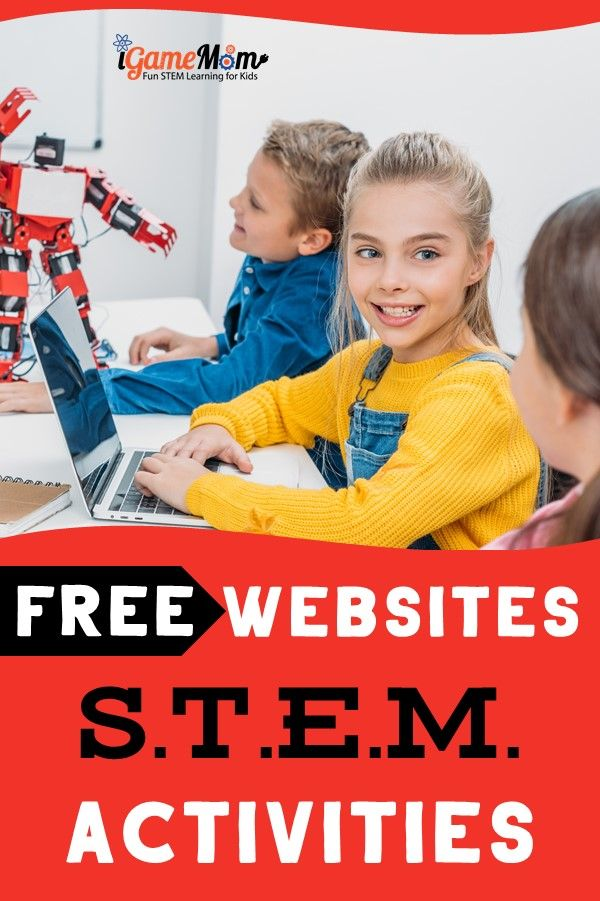 Free STEM activity websites full of fun ideas kids and teachers love, integrating science math engineering tech for critical thinking and problem solving skills