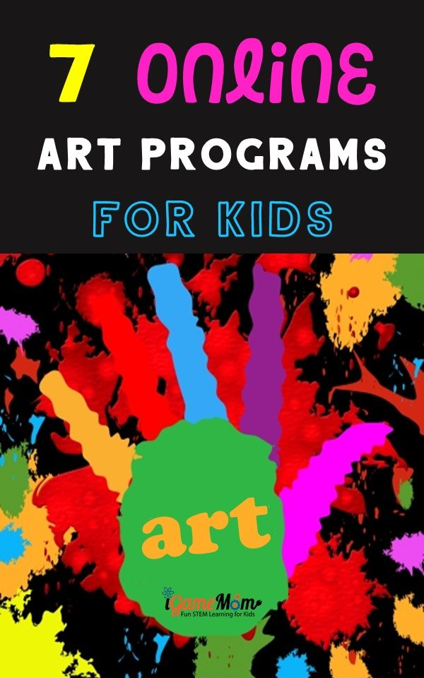 Online art programs from art museums and art teachers, great STEAM art lessons and interactive art project ideas for kids to learn art at home at their own pace