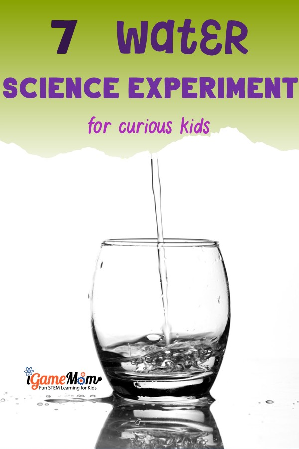 Water science experiments kids love! Water cycle, surface tension, forces, water hardness, Fun STEM science activities for science camp, science class, homeschool.