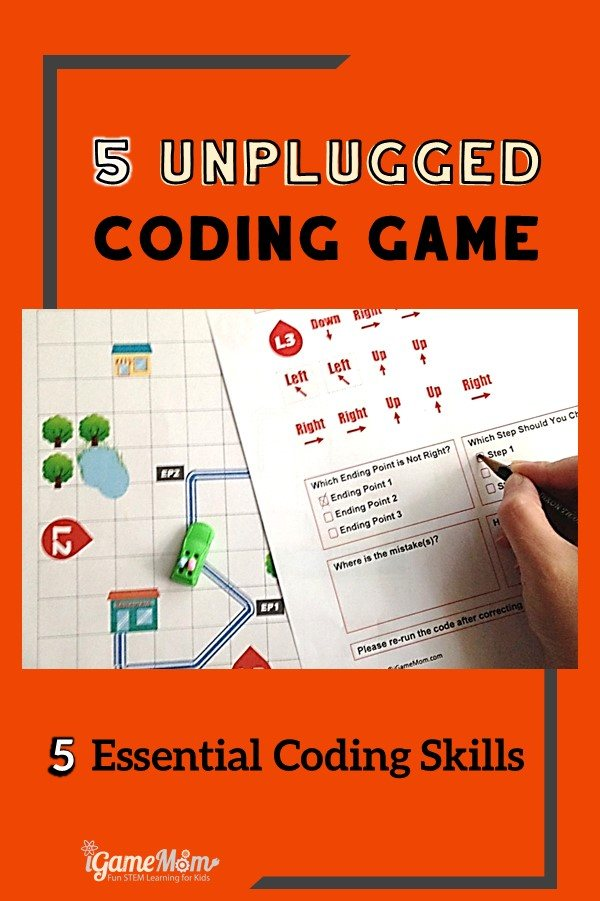 unplugged coding games for kids learn essential coding skills. no computer needed. Free game included.