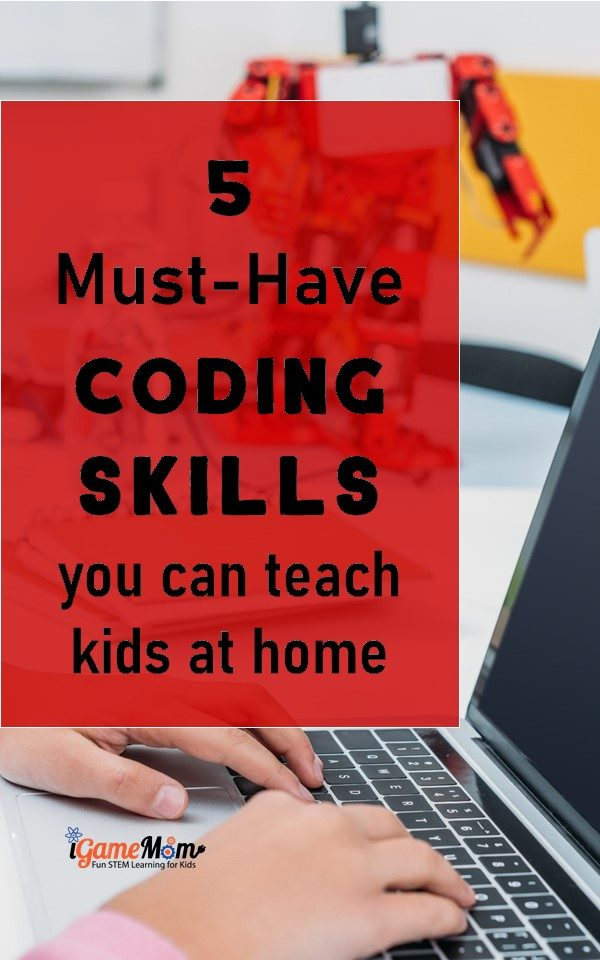 Essential coding skills you can teach kids at home without computers, with printable coding games.