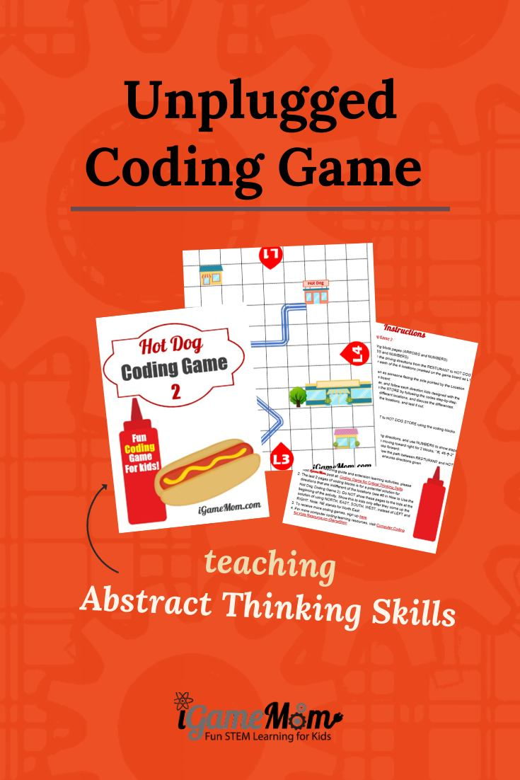 Unplugged coding game for beginner kids to learn critical thinking skills. off-screen STEM activity for boys and girls learn important abstract skill for coding. No computer needed.
